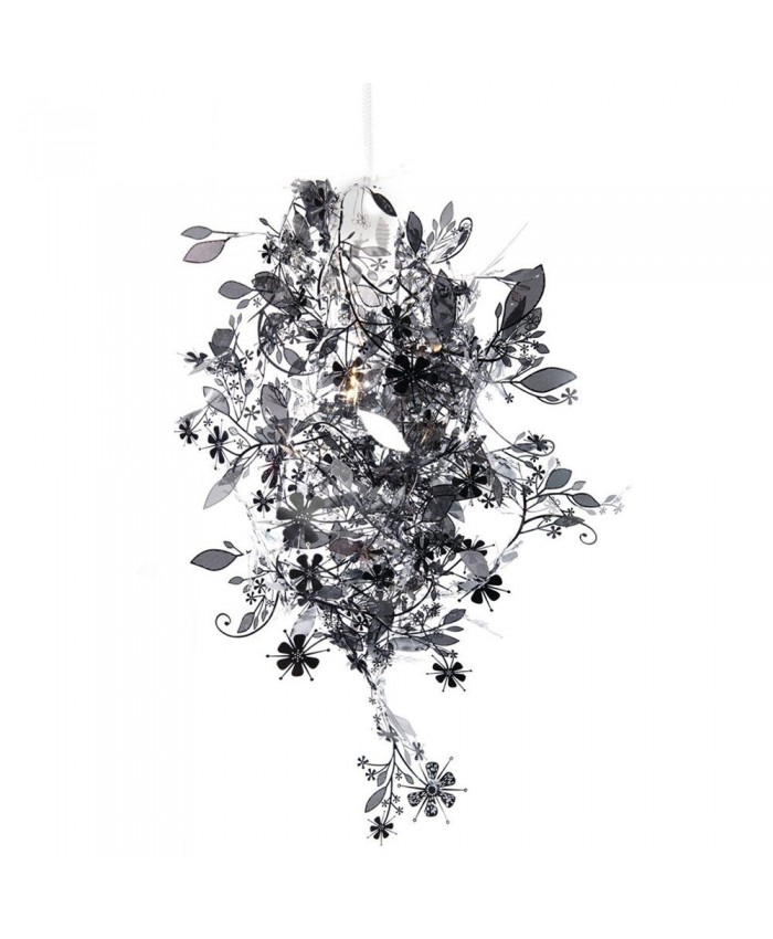 Habitat Tord Boontje's Garland light shade flower lamp pendant chandelier, Black