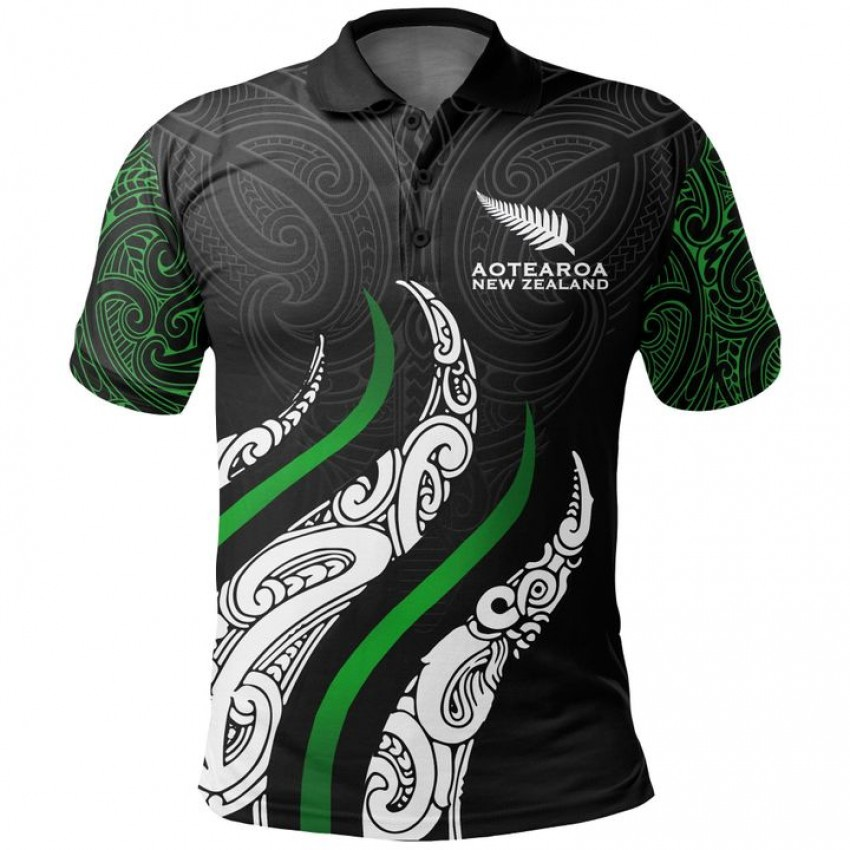 New Zealand Aotearoa Rugby Polo Shirt