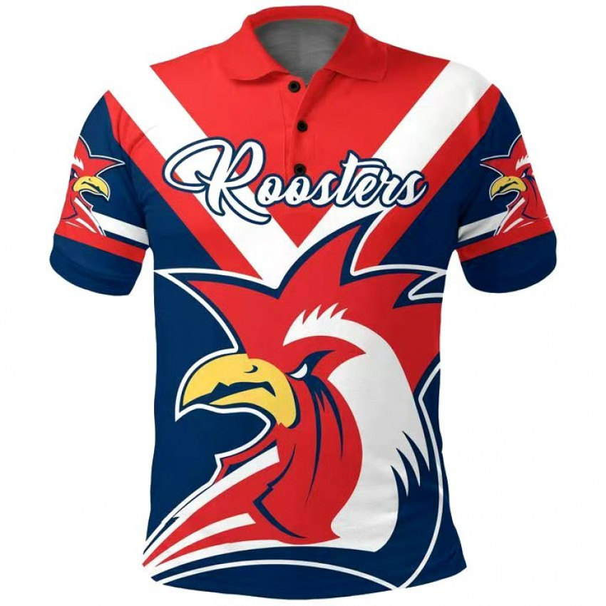 Roosters Rugby Indigenous Polo Shirt