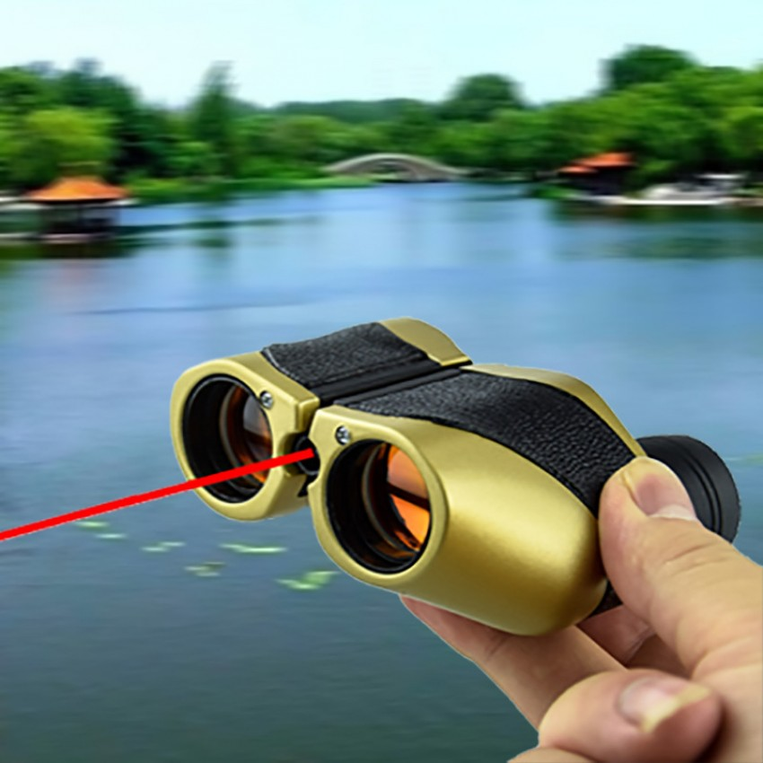High magnification, high-definition portable fixed-focus sight glasses with laser light