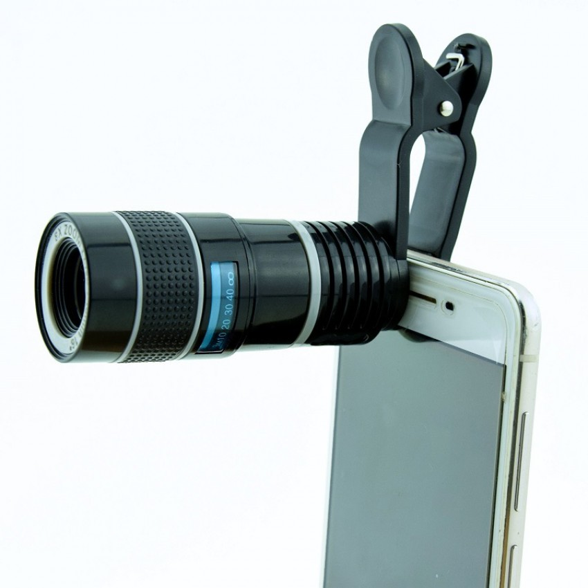 High-powered high-definition mobile phone telescope lens universal camera external universal clip
