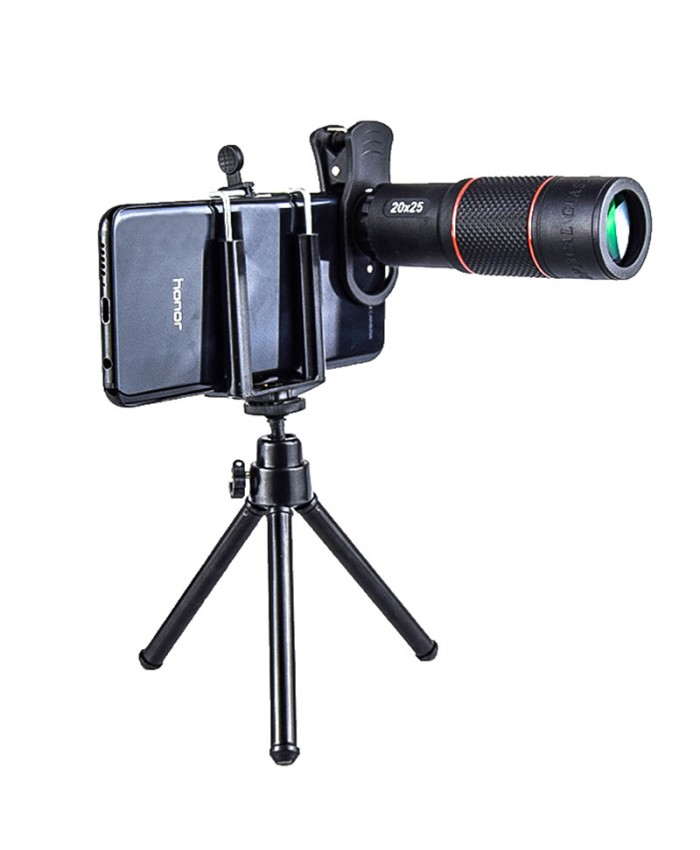 Portable outdoor mobile phone zoom telephoto lens