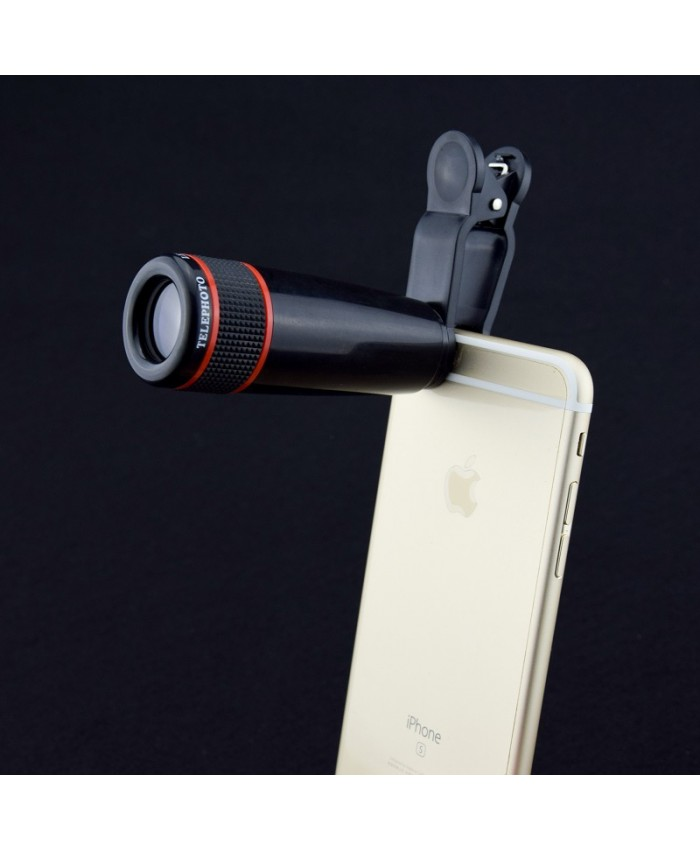 Portable outdoor universal mobile phone telephoto lens camera telescope lens